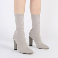 Emily Sock Fit Stretch Boot in Grey