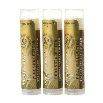 Out of Africa Lip Balm, Tropical Vanilla, .15 oz ,3 count