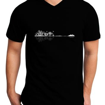 Nature's Harmony Guitar Adult Dark V-Neck T-Shirt by TooLoud