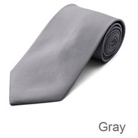 Gray Wedding Tie and Hanky Set