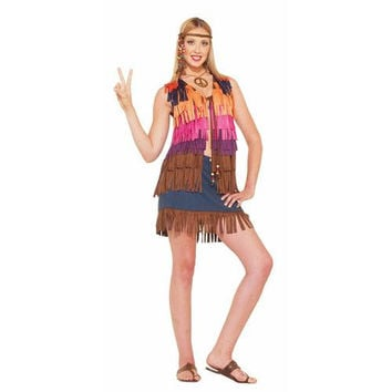 Women's Costume: Hippie Fringed Vest