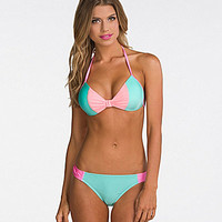 Bikini Lab I Got Bows Push-Up Halter Bra Top & Hipster Bottom | Dillards.com