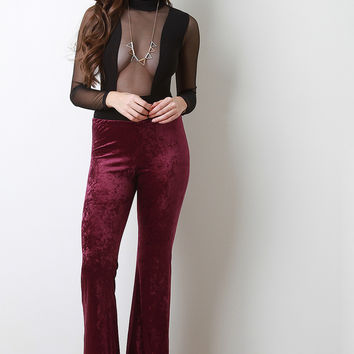 Velvet Flared Bottom Pants