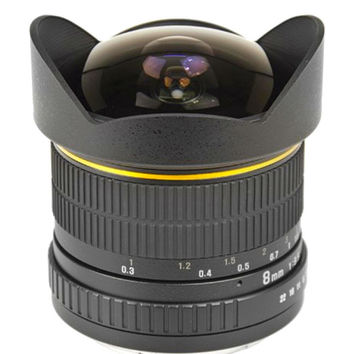 Lightdow 8mm f/3.5 170 deg Aspherical Circular Camera Lens Ultra Wide Fisheye Lens  Canon EOS DSLR Cameras Full Frame Compatible