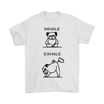 PEAP3CR Inhale Exhale Bulldog Practice Yoga Shirts