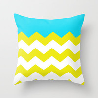 Bright Zig-Zag Throw Pillow by All Is One