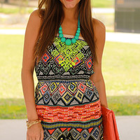 Neon Flash Romper, Coral/Yellow