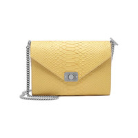 Delphie in Camomile & Powder Silky Snake Leather | Delphie | Mulberry