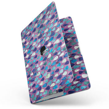 Purple and Blue Upside Down Teardrop Watercolor Pattern - MacBook Pro without Touch Bar Skin Kit
