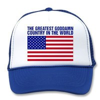 THE GREATEST COUNTRY IN THE WORLD Trucker Hat from Zazzle.com