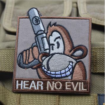 Can Not Hear The Evil 3d Embroidered Badge Badge Armor Bag Sticker Military Tactical Armor Badge Package Patch