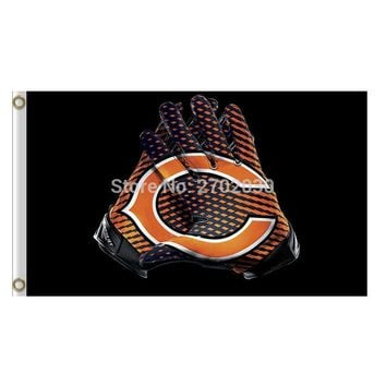 Gloves Design Chicago Bears Flag Banners Football Team Flags 3x5 Ft Super Bowl Champions Banner 90x150cm