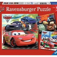 Disney Pixar Cars - Worldwide Racing Fun - (3 x 49) Piece Jigsaw Puzzles