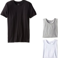 Calvin Klein Men's 3-Pack Cotton Classic Short Sleeve Crew Neck T-Shirt, Multi, Medium