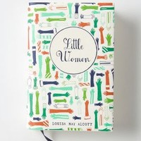 Mr. Boddington's Penguin Classics, Little Women by Anthropologie Green One Size House & Home