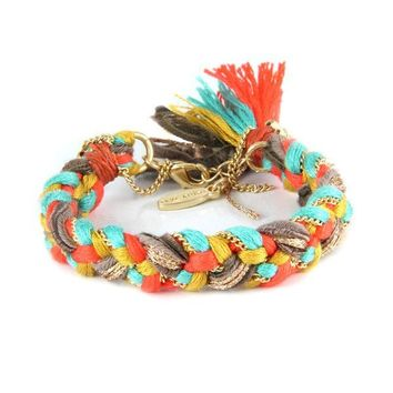 Braided and Chained in Dandy Lion Bracelet