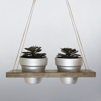 Succulent Planter, Hanging Planter, Terracotta Pot, Air Planter, Hanging Pot, Silver Planter, Modern Planter, Wood Planter, Rustic Planter