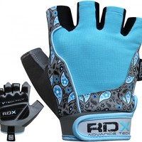 Authentic RDX Ladies Gel Gym Gloves Blue