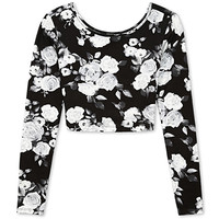 Rockin' Rose Crop Top