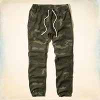 Hollister Camo Cinched Sweatpants