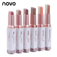 2016 Double Color Stereo Gradient Velvet Shimmer Eyeshadow Stick Earth Color Eye Shadow Cream Pen NOVO Makeup Palette Cosmetics