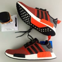 """Adidas"" Women Men Trending NMD Running Sports Shoes Red"