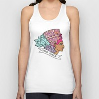 Yas Queen Eyptian Broad City Print Unisex Tank Top by BigKidult   Society6