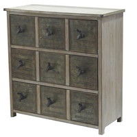 Crestview Collection Country Garden 3 Drawer Chest W/ Faucet Hardware