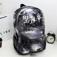 Black Butler Kuroshitsuji Cartoon Students Bookbag Schoolbags Mochila Unisex Backpack Free Shipping