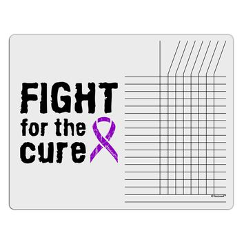 Fight for the Cure - Purple Ribbon Epilepsy Chore List Grid Dry Erase Board