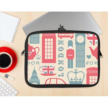 The Vector London Time Red Ink-Fuzed NeoPrene MacBook Laptop Sleeve