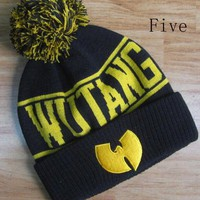 DCCK7HE Perfect Wu-Tang Clan Hiphop Women Men Beanies Winter Knit Hat Cap
