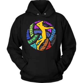 Love Volleyball Game Beach Sports Premium Hoodie