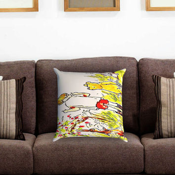 Winnie The Pooh Pillow Cover , Custom Zippered Pillow Case One Side Two Sides