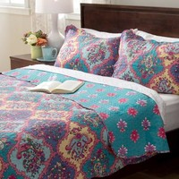 Izabelle Boho Paisley 3PC Reversible Quilt Set
