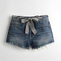 Girls High-Rise Denim Vintage Shorts | Girls Bottoms | HollisterCo.com