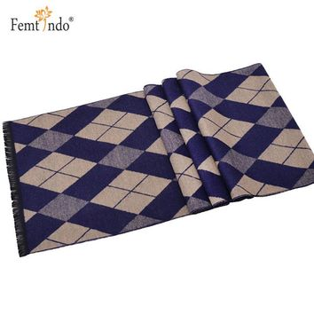 Long Warm Cashmere Scarf Winter Scarf Men Plaid Ponchos And Capes Motorcycle Necklace Scarves Cachemira Hombre Bufandas