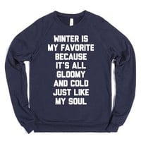 Cold Winter-Unisex Navy Sweatshirt
