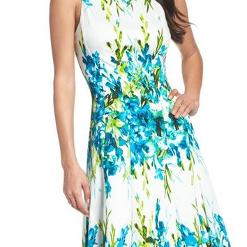 Maggy London Print Fit & Flare Dress | Nordstrom