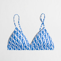 FACTORY TRIANGLE BIKINI TOP IN CERULEAN SEA