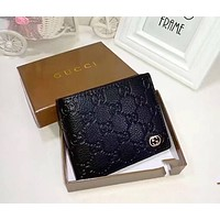 GUCCI embossed men's single package F-LLBPFSH Coffee