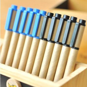 ac PEAPON Korean Pen Leather Environmental Ring Ball Pen 5pcs/set [10068544332]