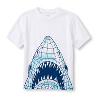 Boys Short Sleeve Shark Scribble Graphic Tee | The Children's Place