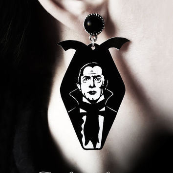 Gothic victorian bat earrings 'Dracula' bela lugosi vampire halloween goth horror