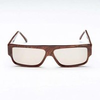 JackThreads - 70s Emmanuelle Khan Flat Top Sunglasses Dark Brown Lens