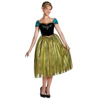 Disney's Frozen Anna Coronation Deluxe Costume - Adult (Blue)