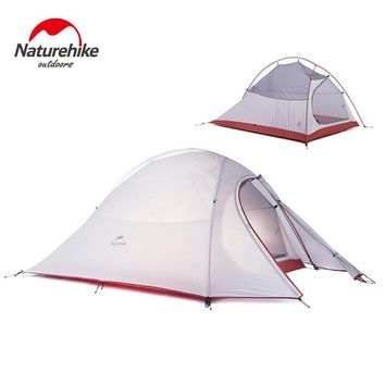 Naturehike Cloud UP2 2 Person Tent Waterproof 20D Silicone Fabric Double-layer Camping Tent Lightweight Only 1.24kg NH