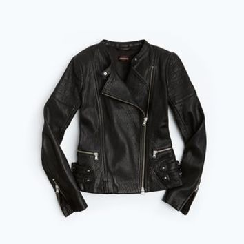 Elsa Heavy Textured Lamb Leather Biker | Danier Official Store