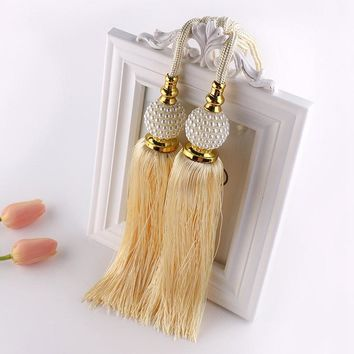 New Arrival 1 Pair Curtain Tieback Tassel Hanging Balls Curtain Accessories Bedroom Livingroom Supplies Household Decoration