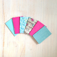 Notebooks: Tiny Journal Set of 6, Blue, Pink, Wedding, Favors, Stocking Stuffer, For Her, For Him, Gift, Unique, Mini Journals, Kids, T046